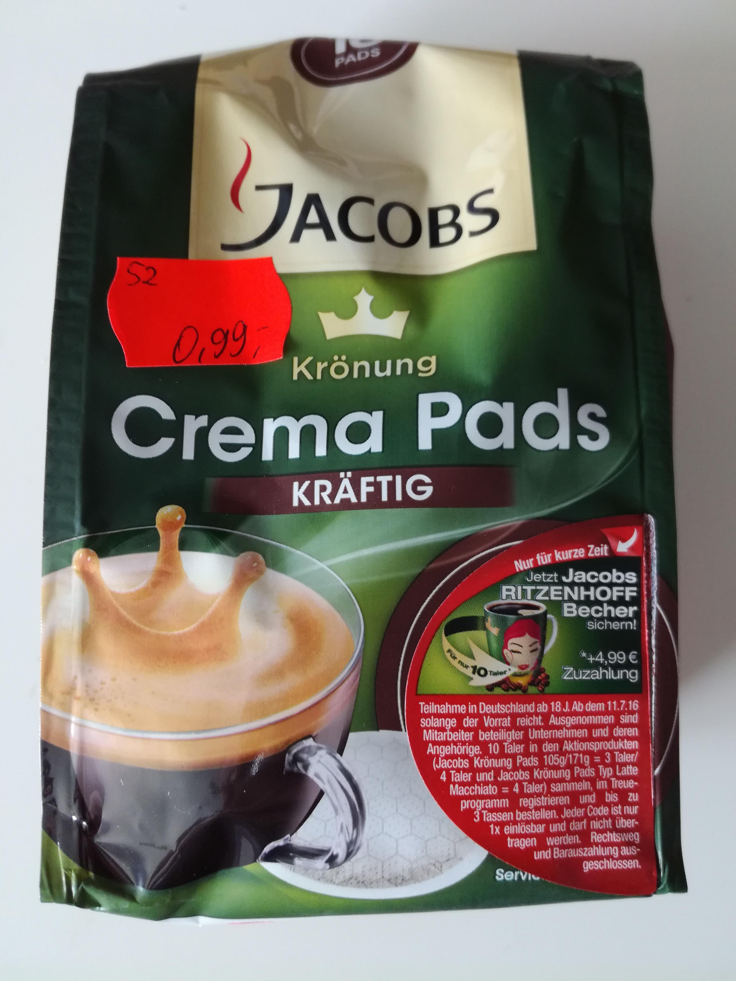 Jacobs Krönung Crema Pads für 0,99€  [Lokal Edeka München]