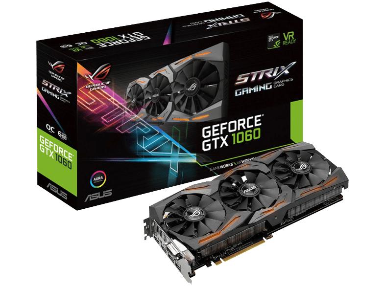 ASUS GeForce GTX 1060 ROG Strix OC 6GB Gaming + Zwei Gratis Spiele PVG ca 308