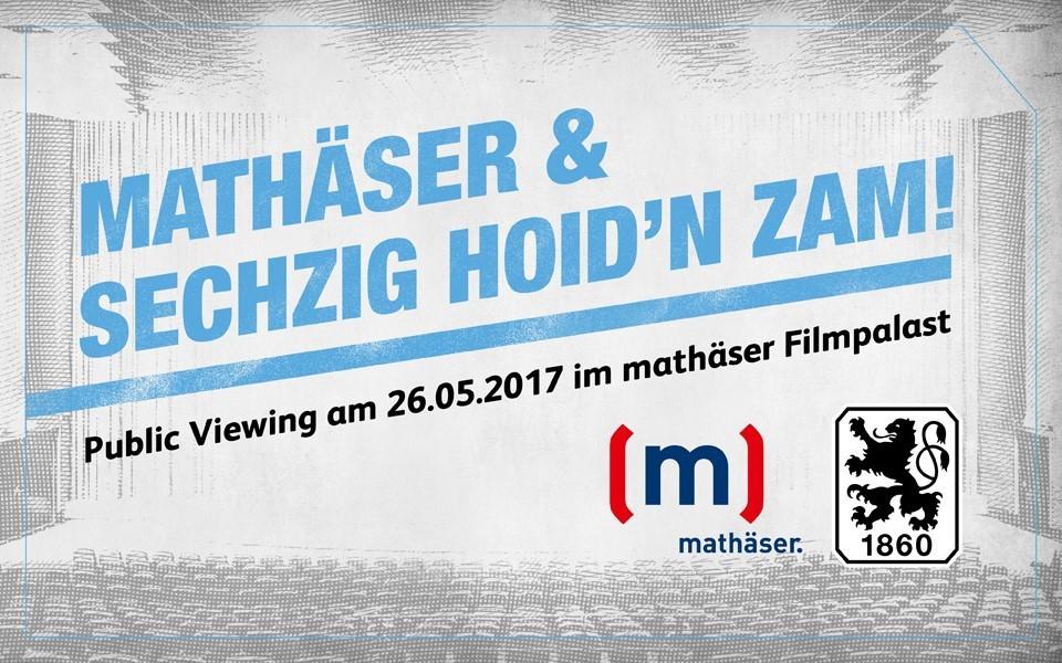 [lokal München] Kostenlos ins Kino : 350 Karten für 2.Liga Relegation-Spiel 1 : SSV Jahn Regensburg - 1860 München -  26.Mai 18 Uhr - @ mathäser