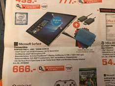 LOKAL AUGSBURG SATURN Microsoft Surface Pro 4 128GB m3-6Y30 4GB incl. Type Cover u. Wireless Display Adapter