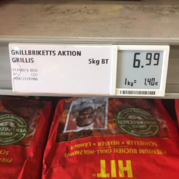 [Rewe] ProFagus Grillis und Buchenholzkohle 5kg