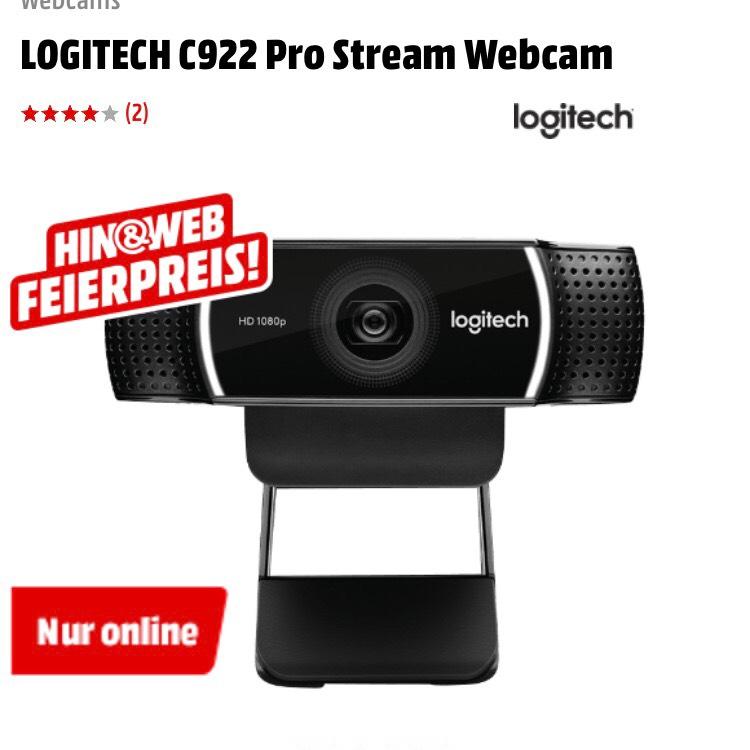 LOGITECH C922 Pro Stream Webcam für 59€  [Mediamarkt]