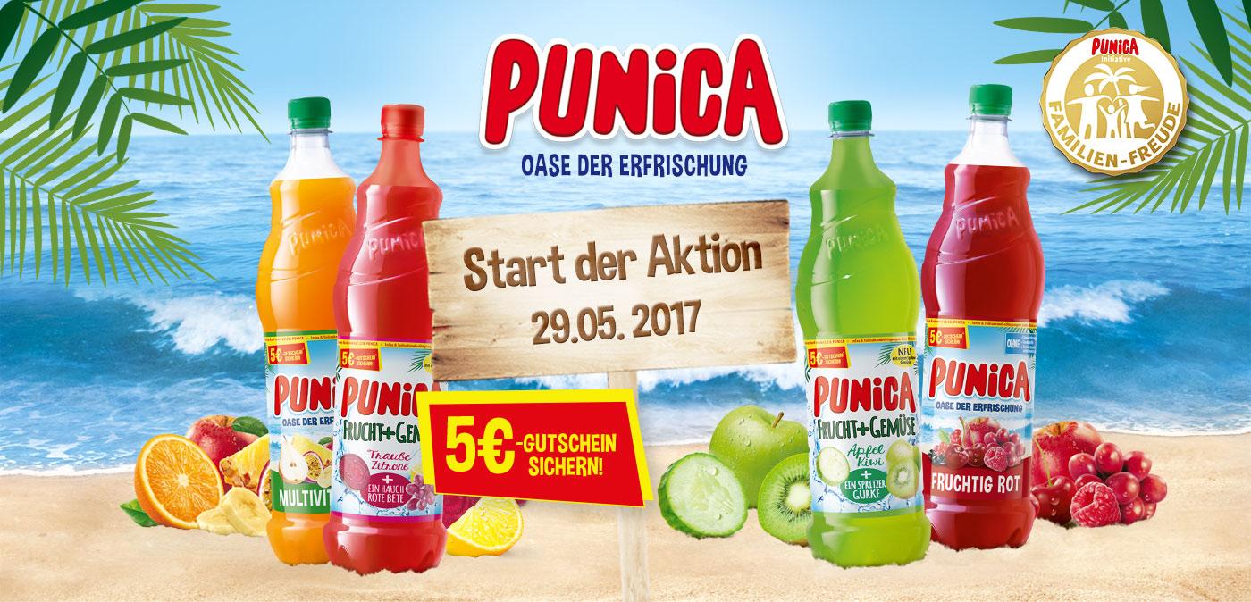 5€ Einkaufsgutschein beim Kauf von 6 x 1,25L Punica