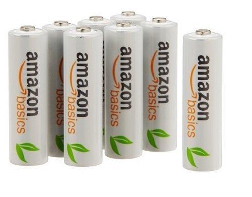 AmazonBasics Vorgeladene Ni-MH AAA-Akkus - Akkubatterien, 800 mAh, 12 Stck