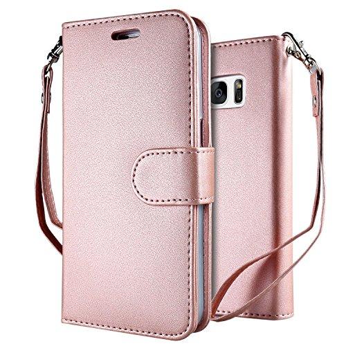 Leathlux Galaxy S8 Hülle Rosa Reine Farbe Premium PU Leder Schutzhülle für 0,99€ mit Werbeaktion (-9€) [Amazon Prime]