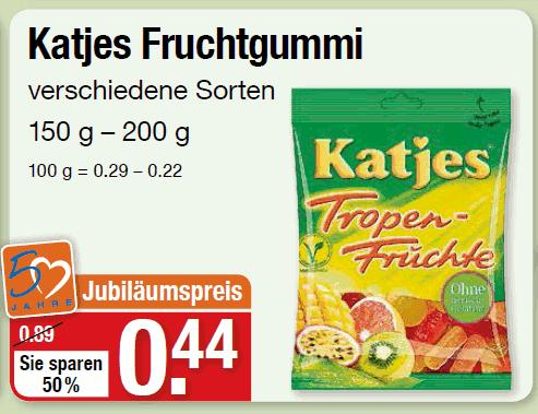 [V-Markt lokal München & Mainburg] Katjes Fruchtgummi 44 ¢
