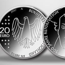 """3 × 20 €-Stück """"500 Jahre Reformation"""" in Silber/bankfrisch nur 55 €"""