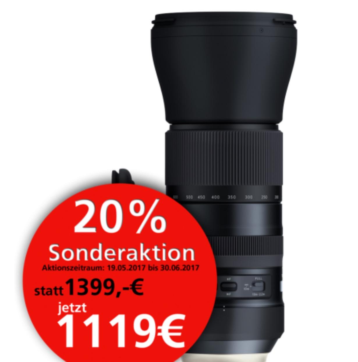 Tamron 150-600mm 1:5-6,3 Di VC USD G2 Nikon/Canon/Sony (Amazon 336€ teurer) online und offline Angebot