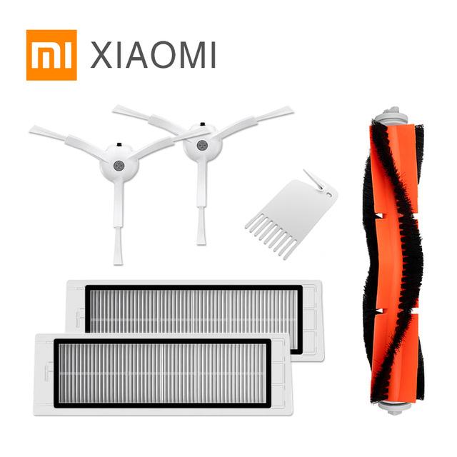 [Aliexpress] Xiaomi Mi Robot 2x Ersatzfilter, Hauptbürste + Kamm, 2x Seitenbürste