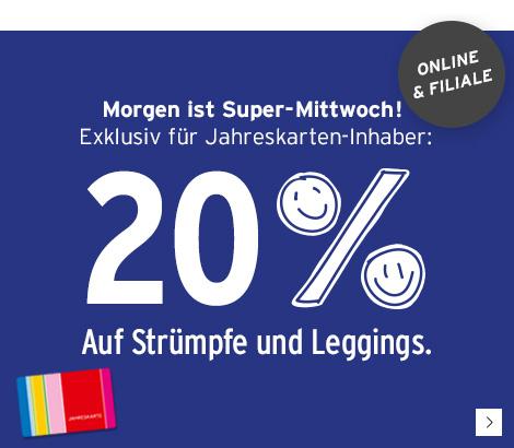 [Online & Filiale] am 31.05.2017 -> 20 % Rabatt auf Strümpfe und Leggings bei Ernsting's family
