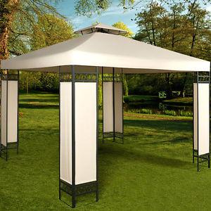[ebay] Pavillon /Gartenzelt 3x3m Creme mit Gutschein Code für 98,95 inkl VK