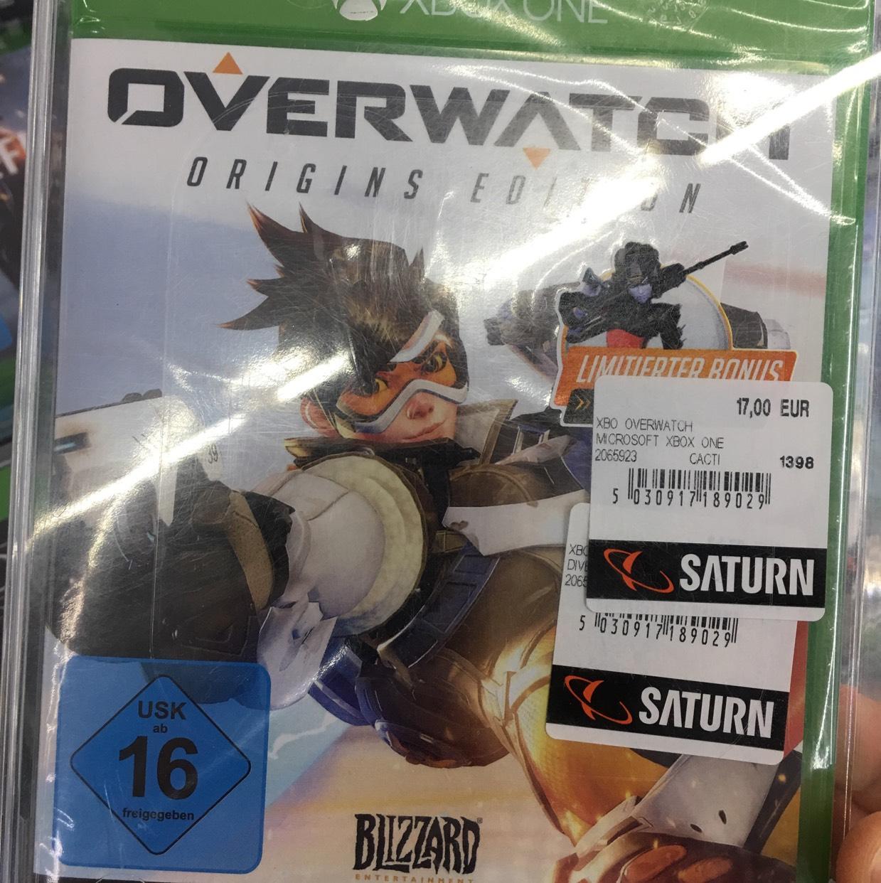 Overwatch: Origins Edition (Xbox One) für 17€ [lokal Saturn Darmstadt]