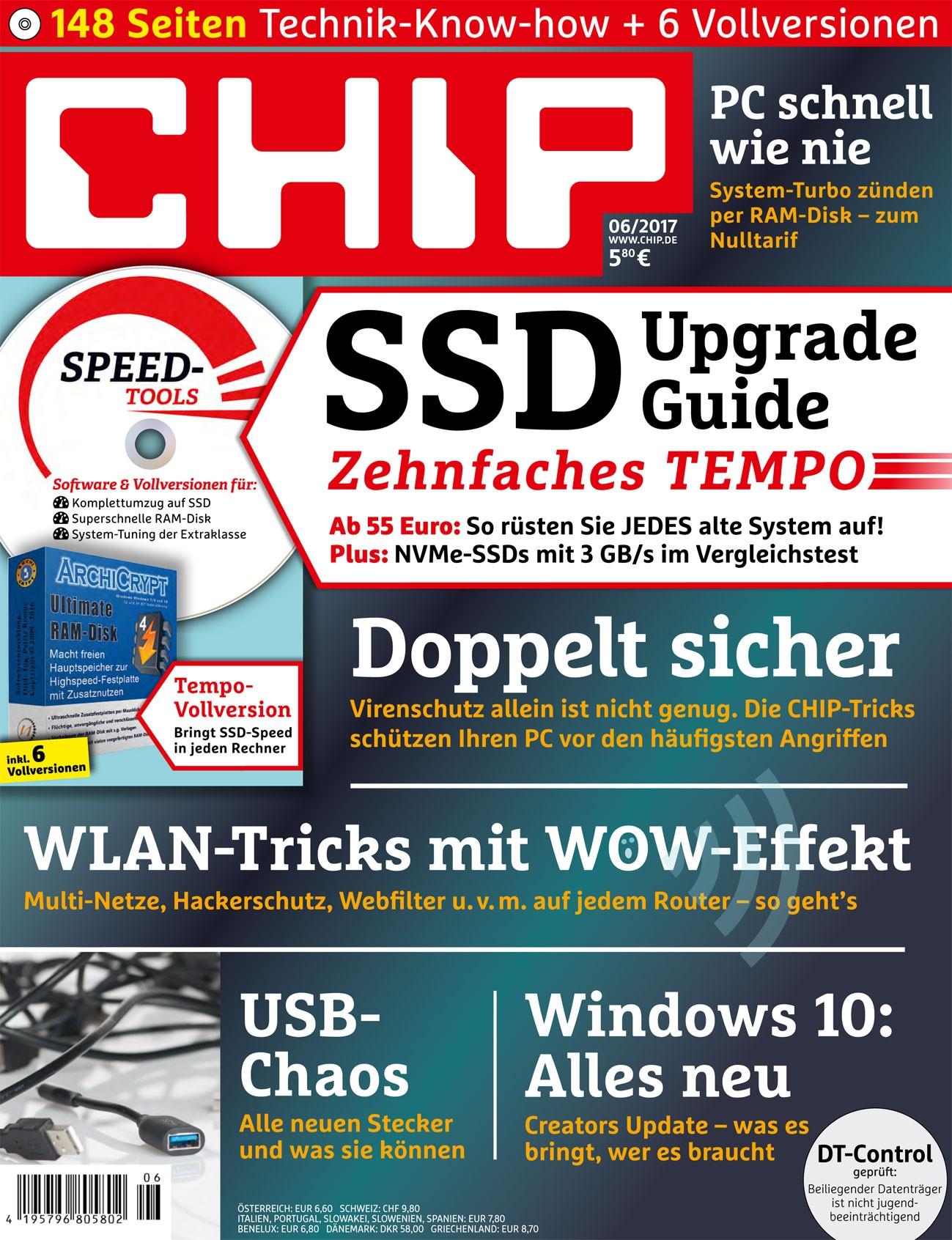 Dockin D Solid Bluetooth-Lautsprecher (PVG: 44€) oder DOCKIN D Move Bluetooth Headset (PVG: 39€) durch CHIP inkl. DVD Halbjahresabo + Kaspersky Sicherheitspaket (lizenz für 3 Rechner) für 34,90 €