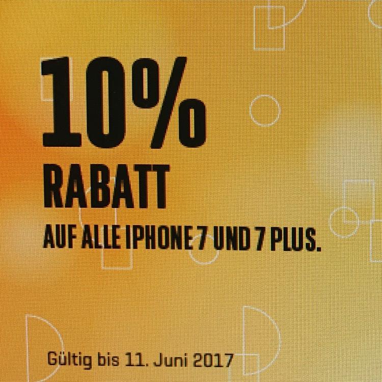 CH- Interdiscount: 10% auf iPhone 7 & 7 Plus