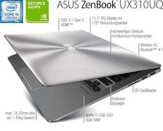 """Asus Education ZenBook™ UX310UQ-FC368 """"Campus Edition"""" inkl. Sleeve"""