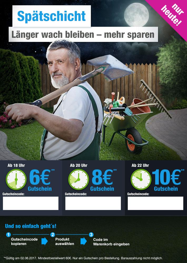 GartenXXL 10€ Gutschein - ab 22Uhr ! MBW 60€