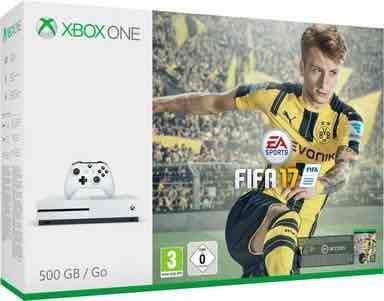 Xbox One S 500GB + Fifa 17, 4K Ultra HD eff. 172,43€ für Neukunden auf Otto.de