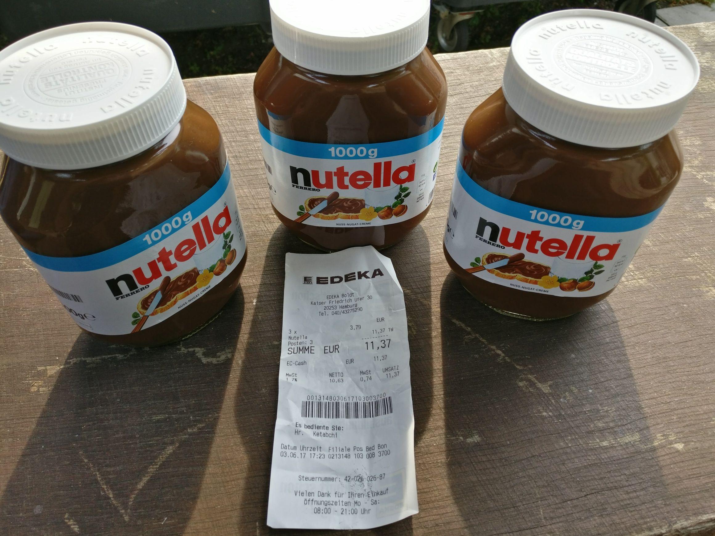 Preisfehler 1kg Nutella bei Edeka (Hamburg lokal?)