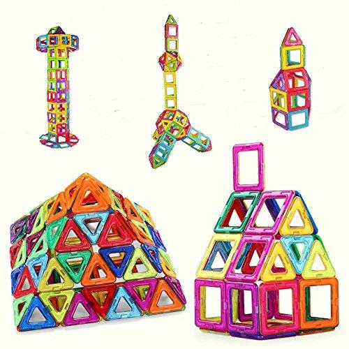 Crenova Magnetische Bausteine Regenbogen Set (53 Teile)
