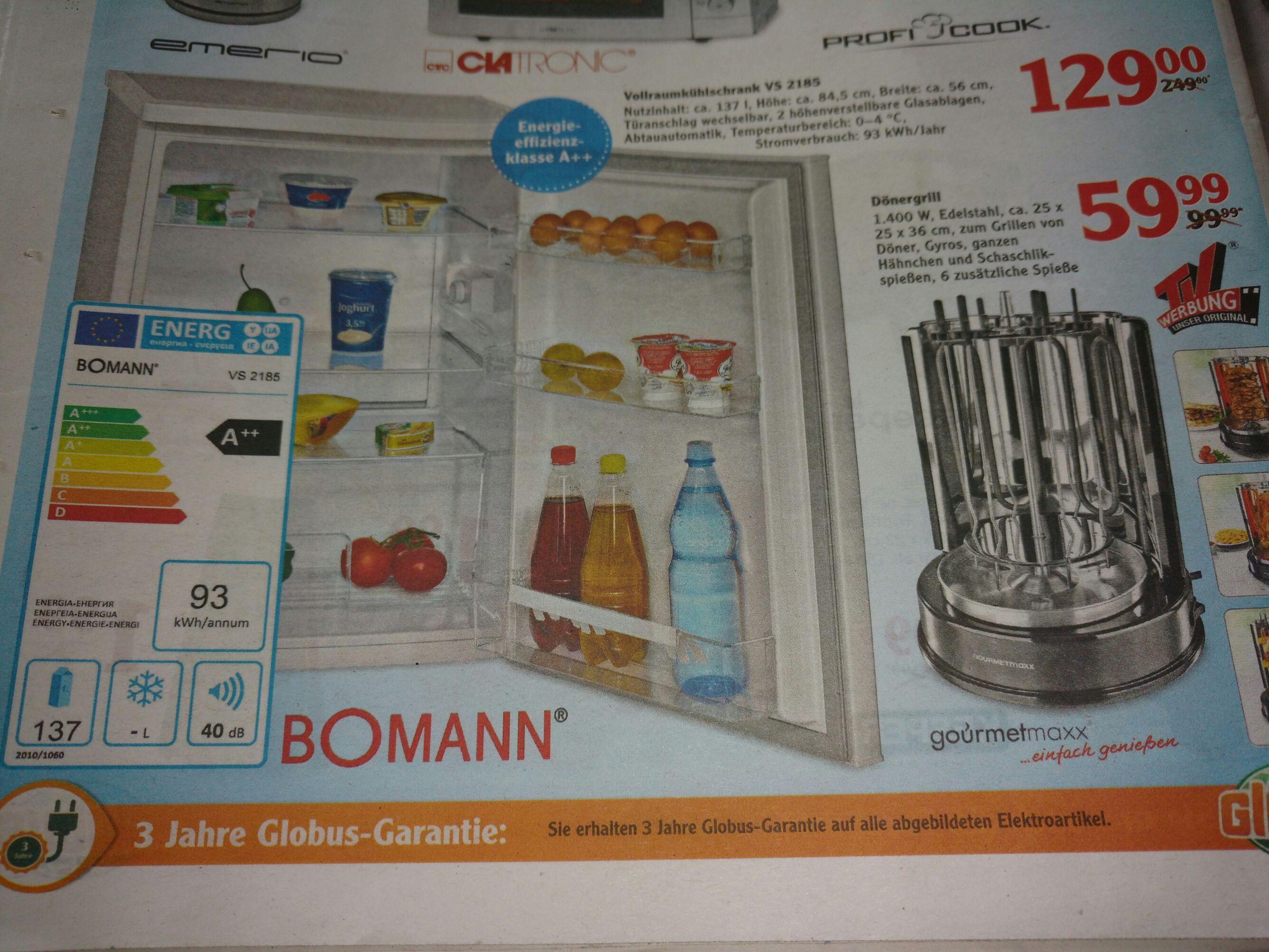LOKAL Globus Schwandorf - Bomann Kühlschrank VS2185 A++