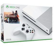 Microsoft Xbox One S 500GB weiß + Spiel für 186 EUR heute schon!!