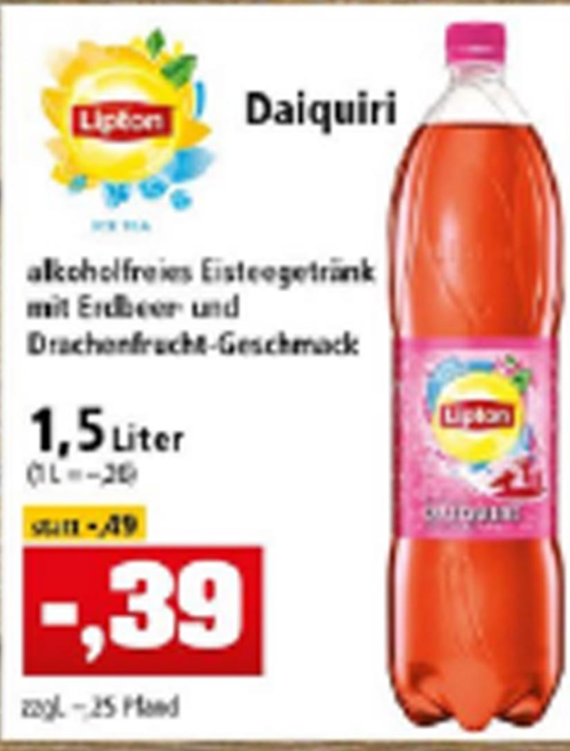 Lipton Ice Tea  1,5 l Flasche für 0,39 EUR bei Thomas Philipps