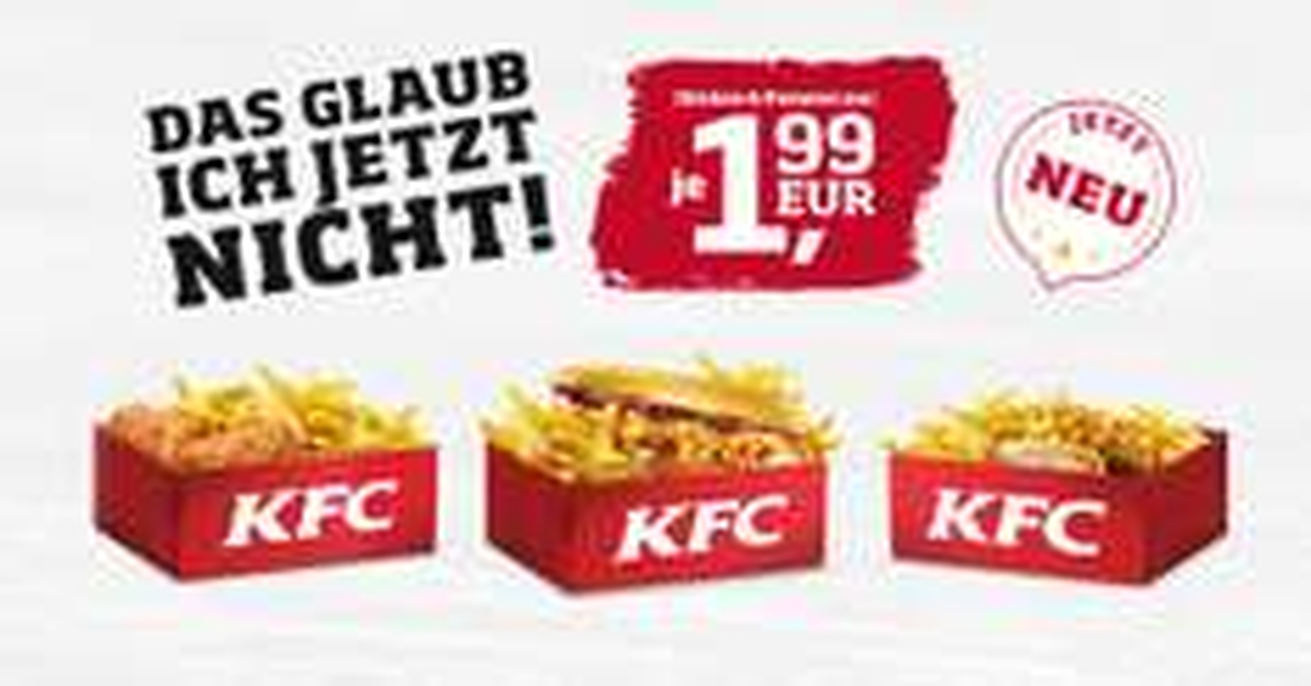 """""""Chicken + Pommes""""-Angebot"""