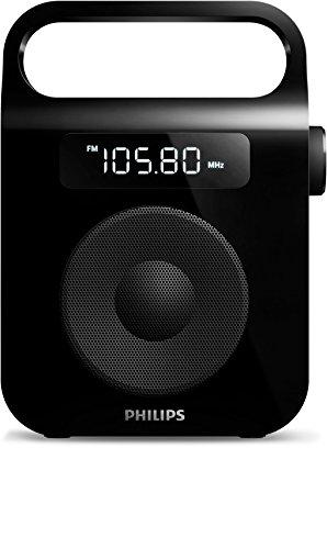 Amazon Prime oder DVD/Buch-Trick: Philips AE2600B/12 Tragbares Radio (UKW/MW-Radiosendern) schwarz