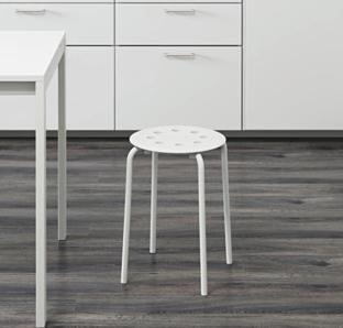 Billige Plätze: Hocker Marius in Weiß, Schwarz und Rot für 2,99€ statt 4,99€ für Ikea Family Mitglieder