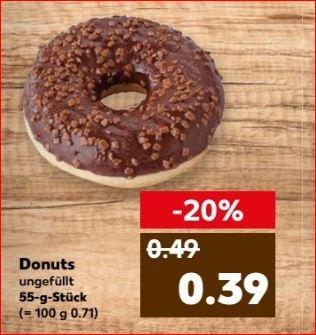 [Kaufland] Verschiedene Backwaren günstiger, z. B. Donut statt 49 Cent nur 39 Cent