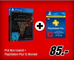 [Mediamarkt GDD] The Elder Scrolls Online Morrowind (PS4) + 12 Monate PS Plus für 85,-€