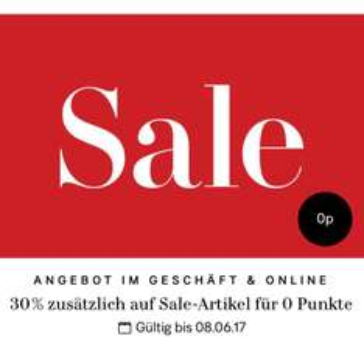 H&M 30% zusätzlich auf den Sale offline + online