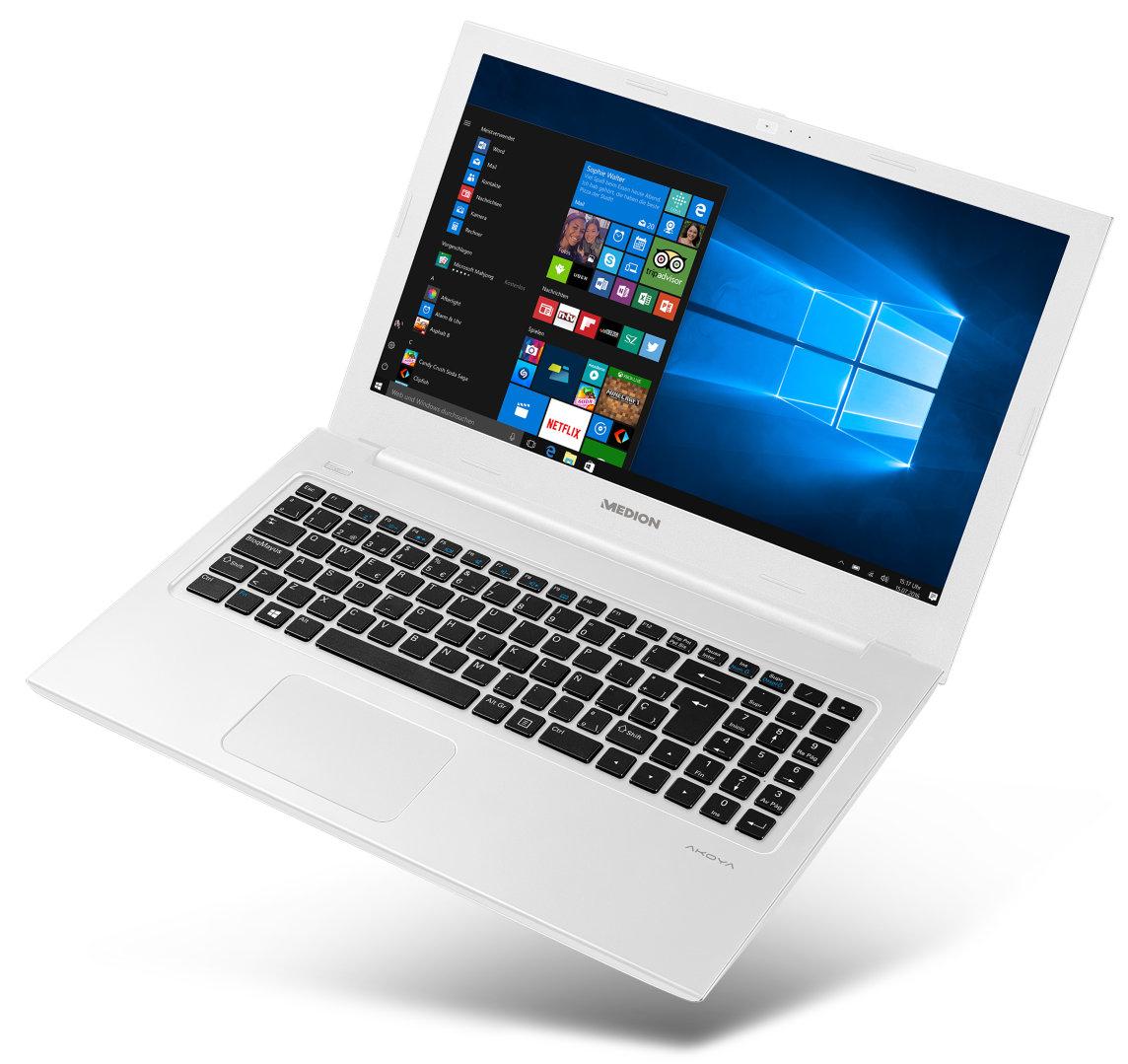 Medion S6421 mit Core i5-6200U, 8GB RAM, 512GB SSD, 15,6 Zoll Full-HD IPS matt, Win 10, 1,9kg für 619€ bei Medion