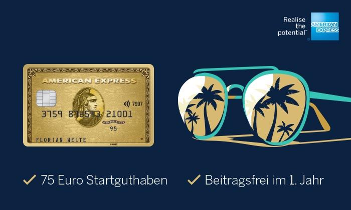 Amex Gold mit 75,-Euro Startguthaben