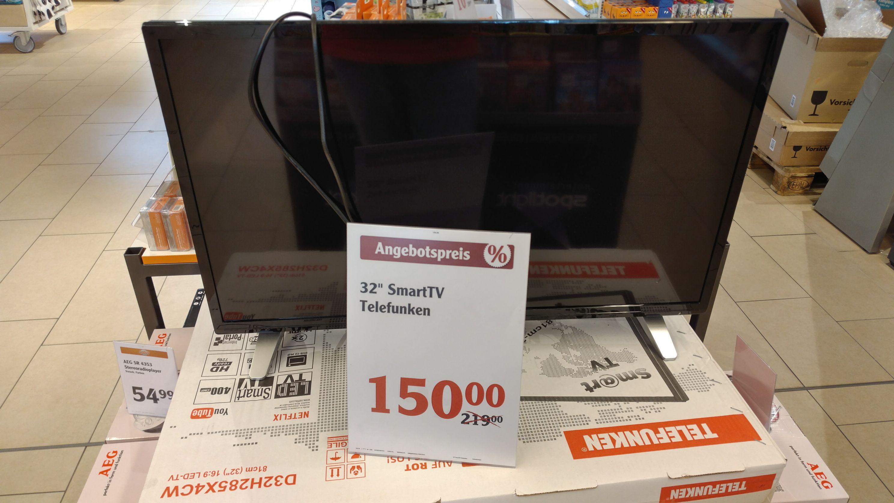 (Lokal) Globus Koblenz Telefunken D32H285X4CW 32 Zoll Smart TV