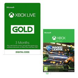 3 Monate Xbox Live + Rocket League (Xbox One) Digital Download für 17,30€ (Game UK)