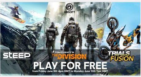 [Ubisoft] Free Weekend....Steep, Tom Clancy´s The Division und Trials Fusion Umsonst zocken**NUR PC**