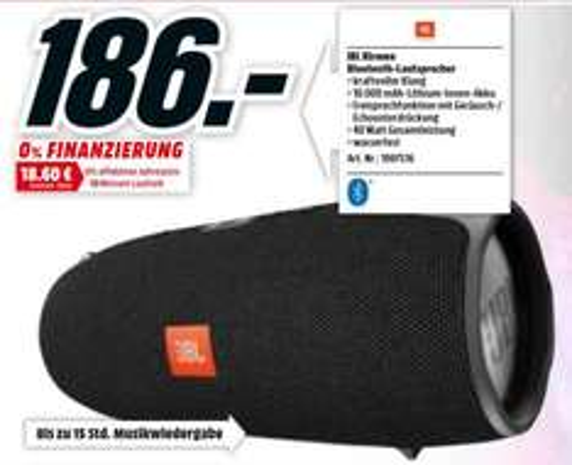 [MM Berlin-Brandburg] JBL Xtreme  186,- schwarz