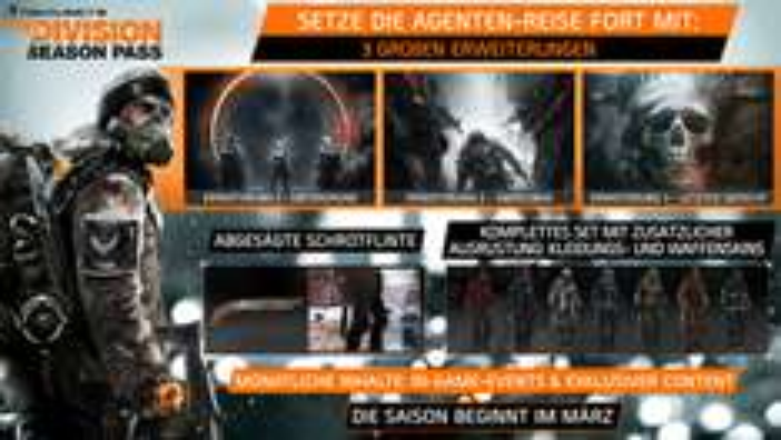 Tom Clancy's The Division Season Pass (PC) für 16€ (Ubisoft Store)