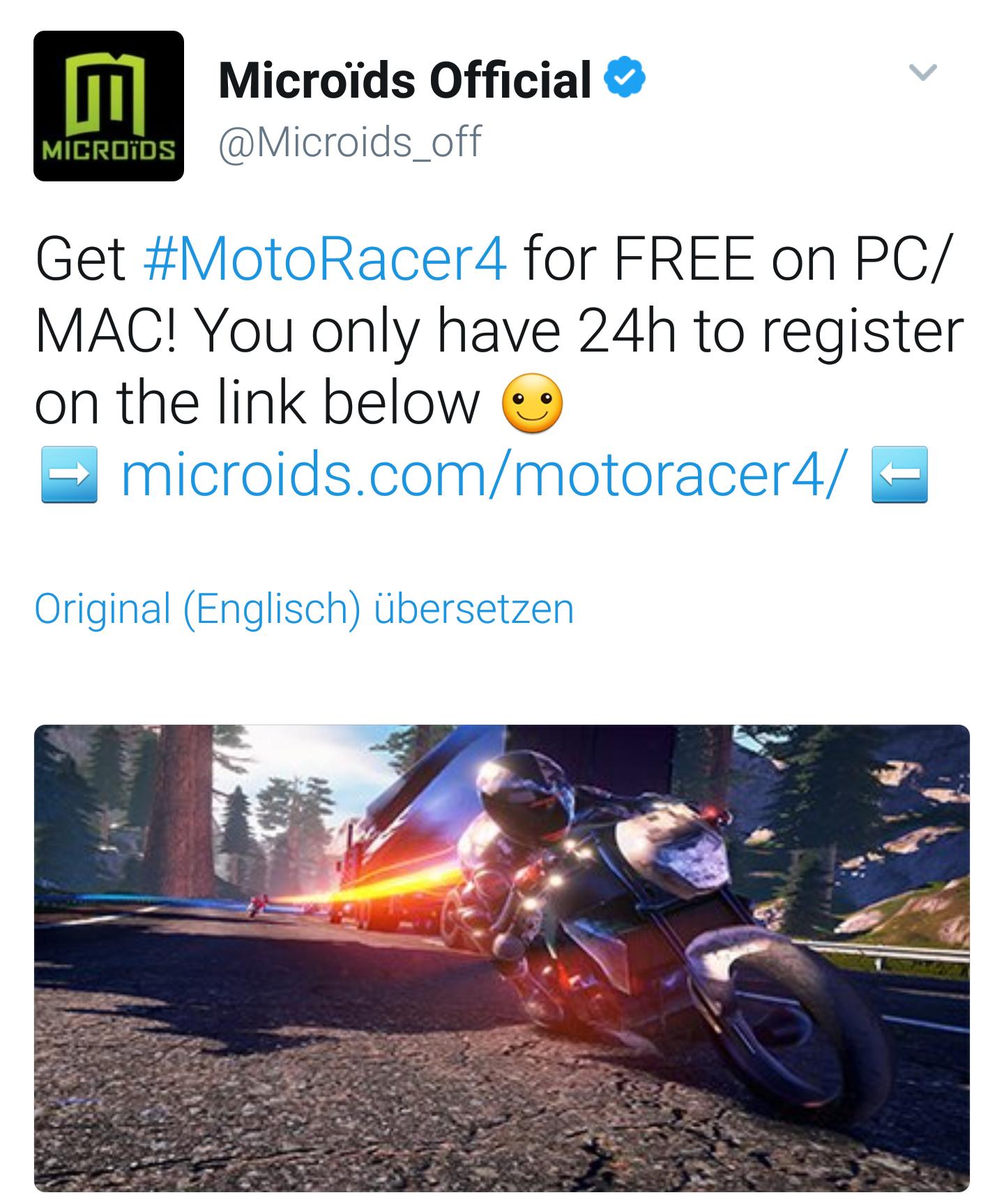 Moto Racer 4 (PC/Mac) kostenlos!