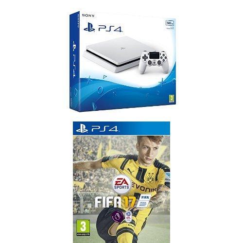 Sony PlayStation 4 Slim Weiß (500GB) + Fifa 17 für 232€ (Amazon UK)