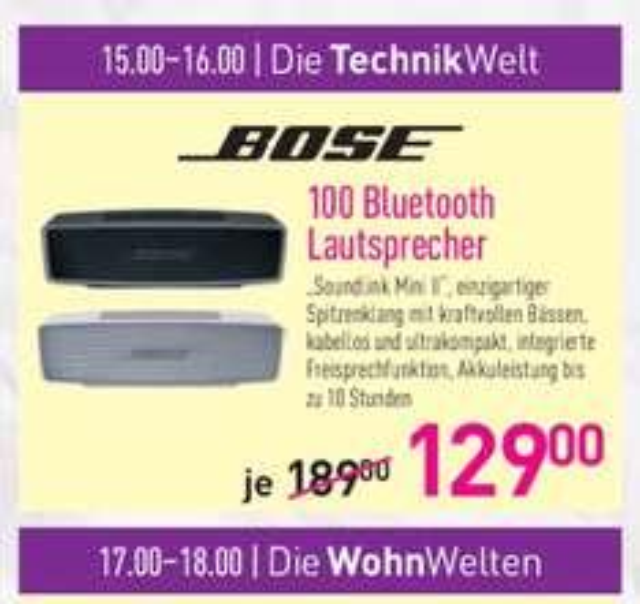 Bose soundlink Mini II für lokal Dodenhof