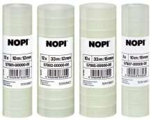 NOPI Klebefilm (by Tesa) transparent, 10 Rollen, 10m x 15mm (Amazon Plus)