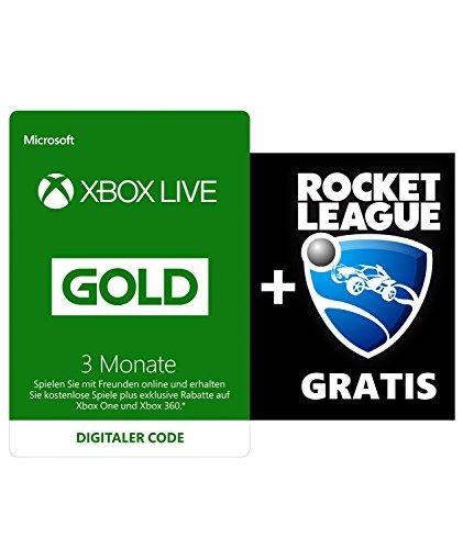 3 Monate Xbox Live Gold + Rocket League Gratis (Xbox Live Download Code) für 19,99€ (Amazon.de)