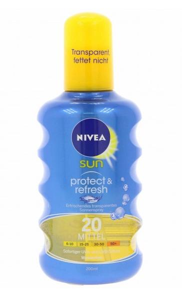 NIVEA Sun Sonnenmilch & Spray für je nur 5,99€, z.B. NIVEA sun Protect & Refresh Sonnenspray 200 ml für 5,99€ statt 8,79€ @Outlet46