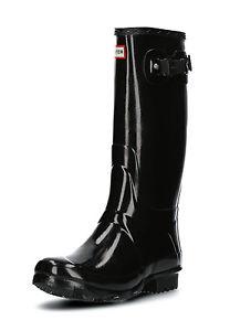 Knietief im Schlamm, aber mit Stil: Hunter Boots Glossy Schwarz (Gr. 36-43) für 55,99€ statt ca. 83€ @ebay B4F