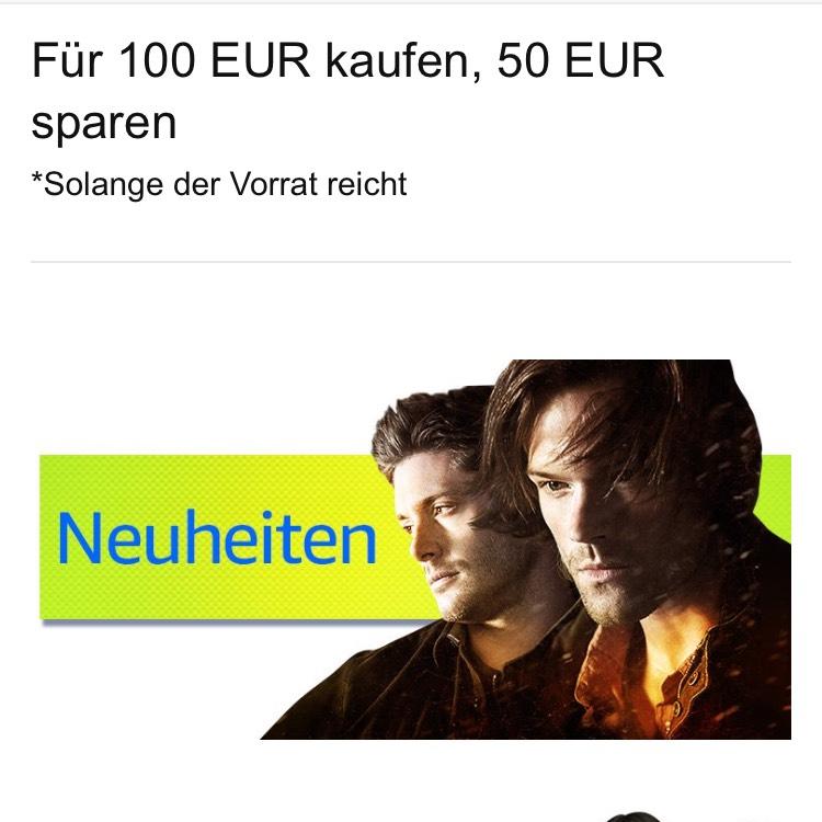 Amazon Aktion - 100€ Blurays kaufen und nur 50€ zahlen!