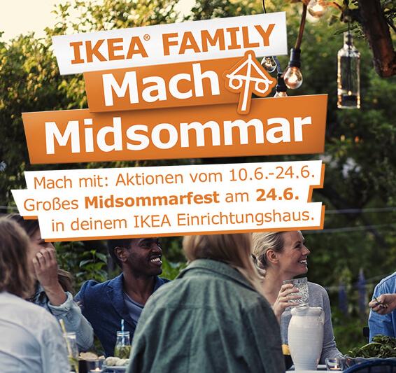 Mach Midsommar! 200 Angebote für Family-Mitglieder bei Ikea, z.B. Ingatorp Esstisch für 199€ statt 259€