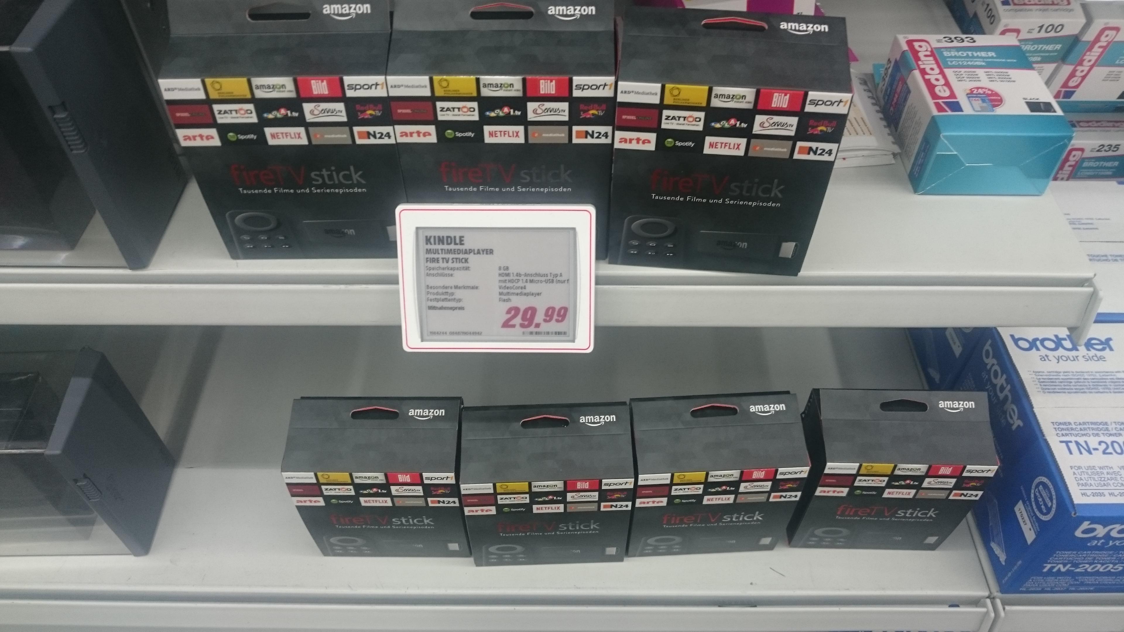 (Lokal, MM Wetzlar) Fire TV Stick für 29,99€ ohne Sprachfernbedienung