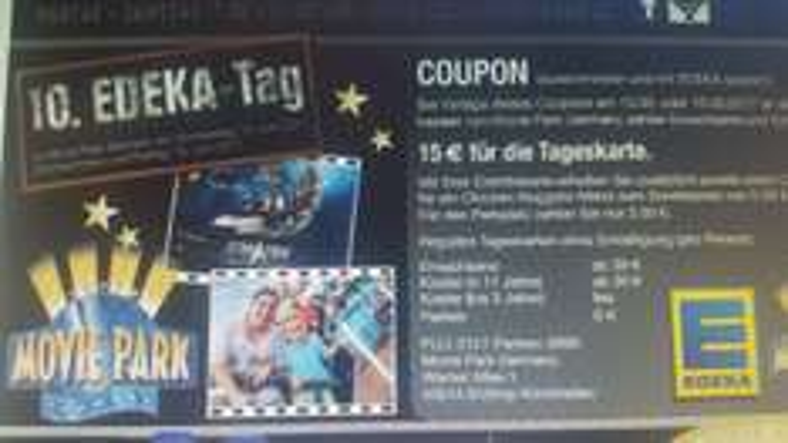 Für 15€ in den movie park Bottrop
